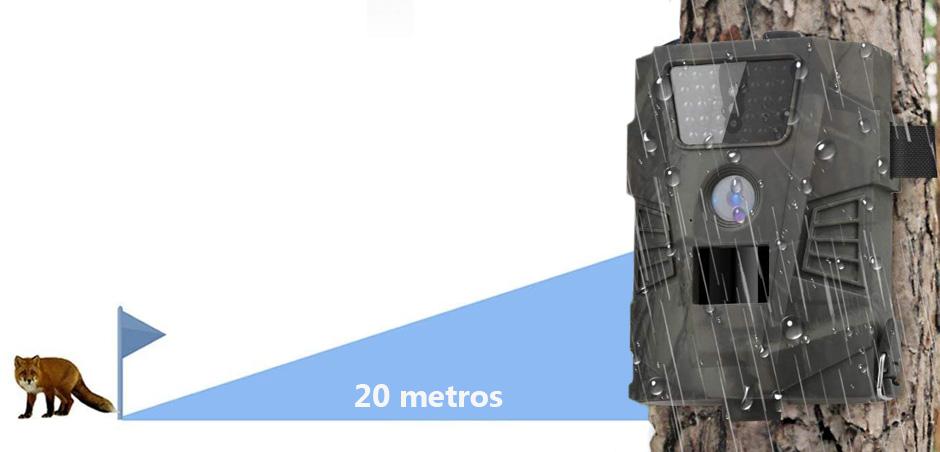 alcance del sensor de movimiento en camaras para cazadores