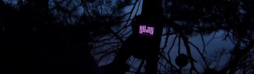 camara de cazadores con luz roja infrarrojos visible